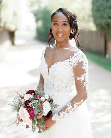 ryan thomas wedding bride holding bouquet