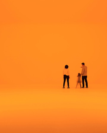 family in orange james turrell piece