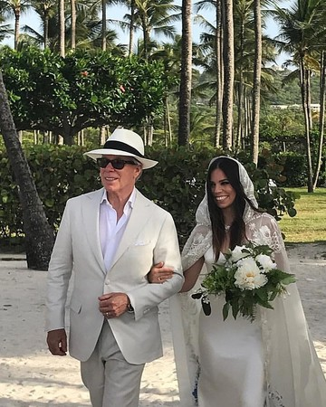 Ally Hilfiger in Custom Tommy Hilfiger in Wedding Dress