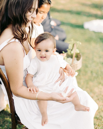 kseniya sadhir wedding italy baby on lap