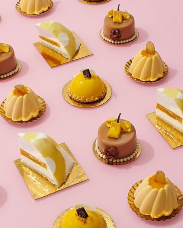 mini tropical pastries