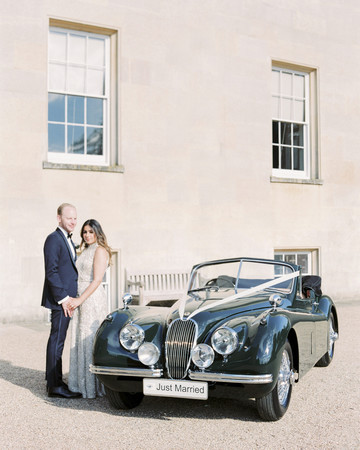 momina jack wedding vintage car couple