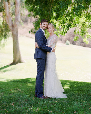 alex drew california wedding couple embracing outdoors