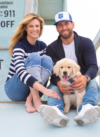 Erin Andrews, Jarret Stole, and dog