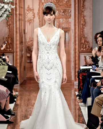 theia wedding dress spring 2019 beaded v-neck trumpet