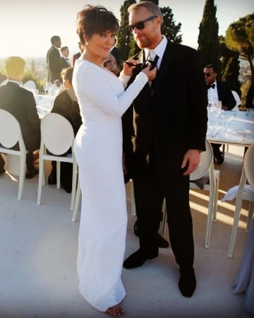 Kris Jenner at Kim and Kanye's Wedding