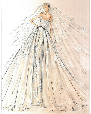 Elie Saab Spring 2018 Bridal Collection Sketch