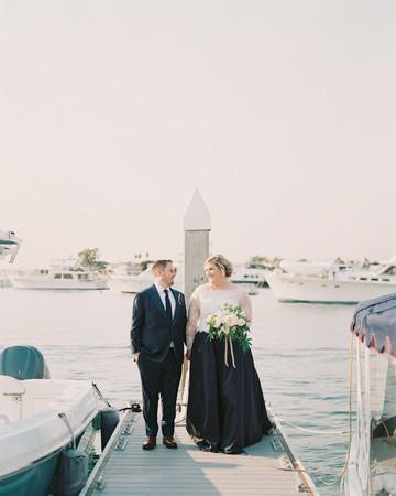 elizabeth scott wedding couple on doc