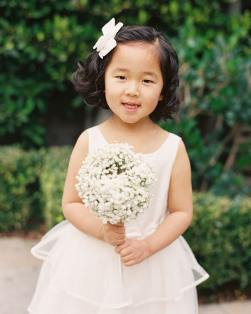 Flower Girl Hairstyle Curls and Bow