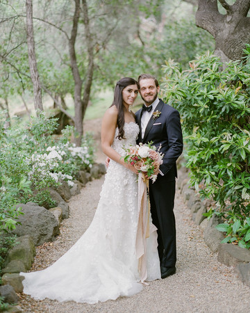 nadine dan wedding couple in trail in the forest