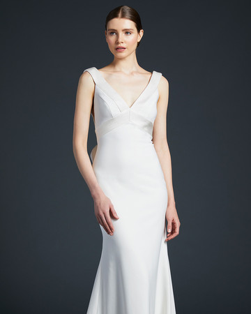 anne barge flowing sheath wedding dress fall 2019