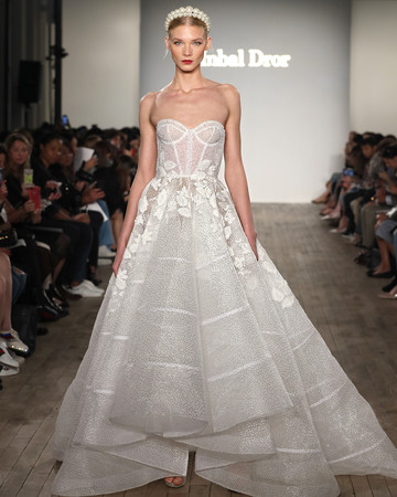 inbal dror wedding dress ball gown with structured bodice