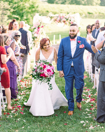 dawn rich wedding recessional couple