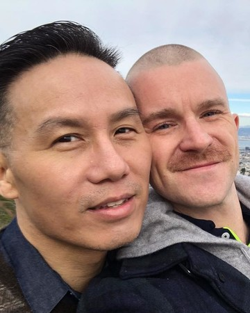 bd wong and richert schnorr married
