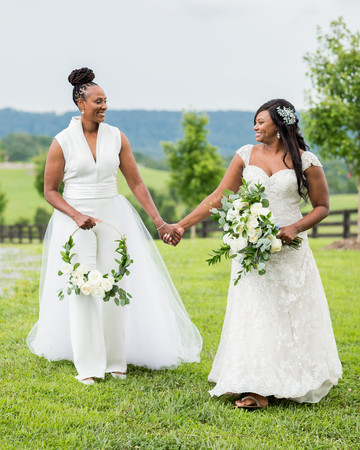 cara chamique wedding brides on rolling hills