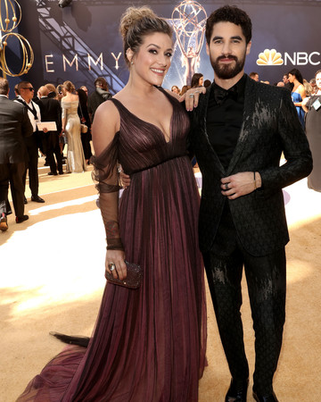 darren criss and mia swier at the 2018 emmys
