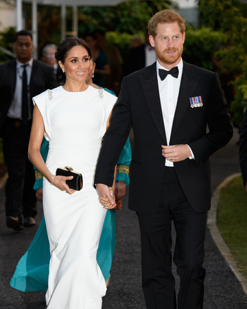 meghan markle theia evening gown