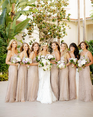 Rent the Runway Bride and Bridesmaids