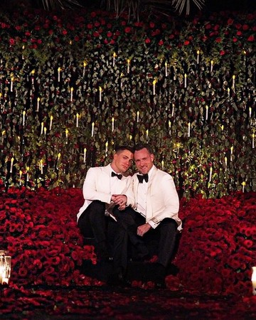 Colton Haynes and Jeff Leatham at Wedding