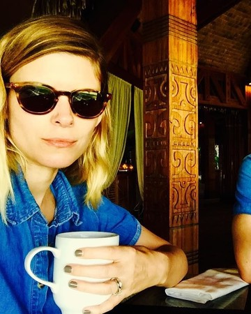 Kate Mara and Jamie Bell selfie with wedding bands