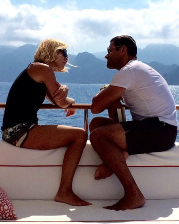 Kelly Ripa and Mark Consuelos on Boat
