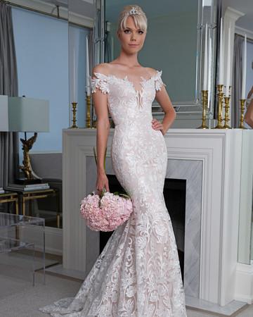 Legends Romona Keveža off the shoulder trumpet wedding dress fall 2019