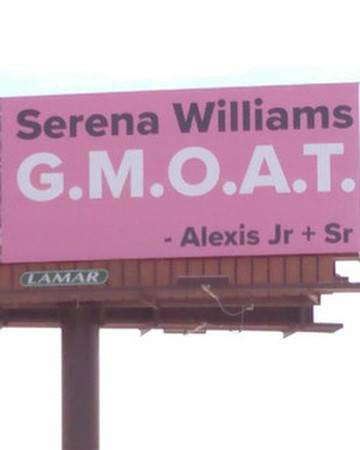serena williams billboard