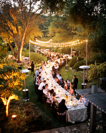 Serpentine Wedding Reception Table
