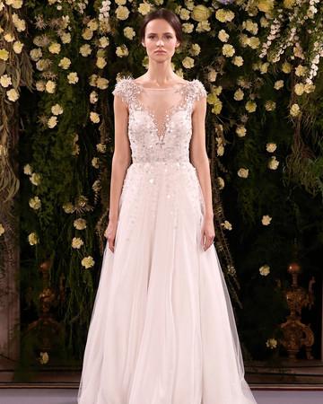 jenny packham wedding dress spring 2019 illusion neck shoulder embellishments