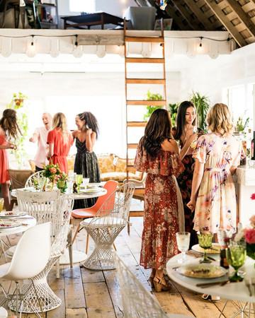 kara bridal shower guests mingling