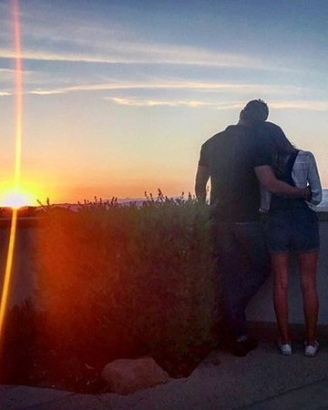 Kellan Lutz and Brittany Gonzales sunset