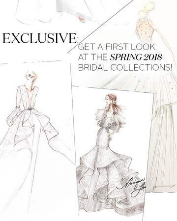 Spring 2018 Bridal Fashion Week Sketches