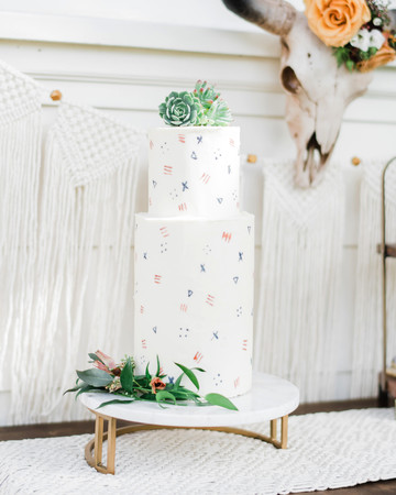 succulent wedding cake decor