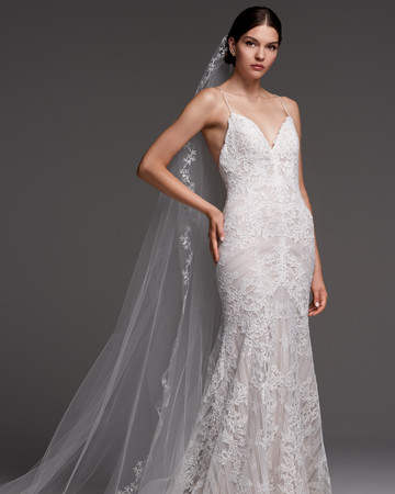 watters wedding dress fall 2018 lace spaghetti strap