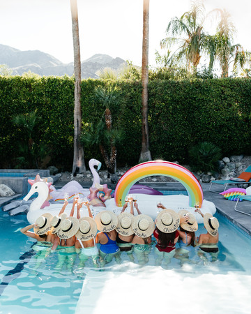 Bachelorette Party in Pool