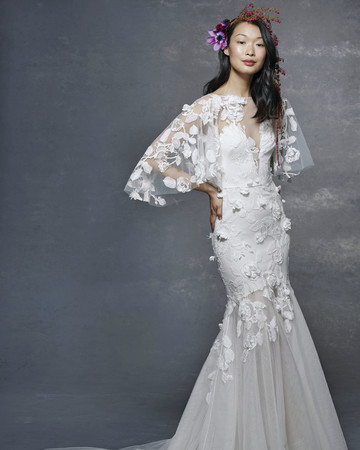 marchesa notte bridal wedding dress v-neck mermaid