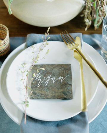 stone place card
