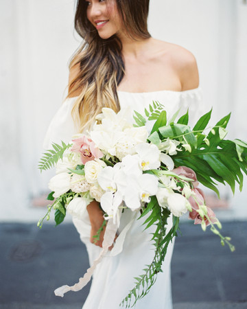 Tropical Orchid Wedding Bouquet