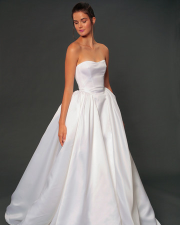 isabelle armstrong fall 2019 strapless ball gown wedding dress