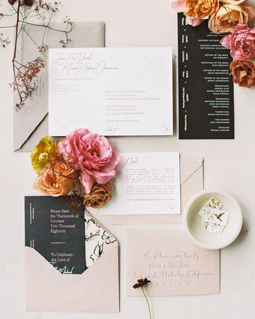 jamie and michael wedding invitation suite