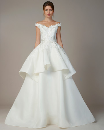 liancarlo wedding dress fall 2018 ballgown off-the-shoulder