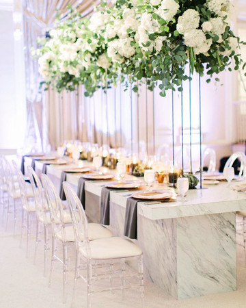 modern wedding marbled table