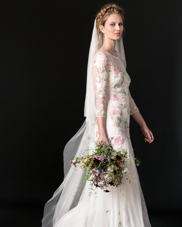 temperley wedding dress fall 2018 long sleeve lace floral