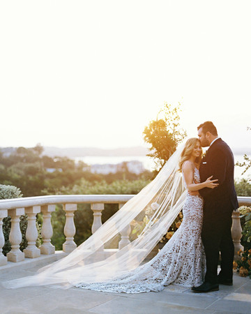charla jesse wedding couple on balcony