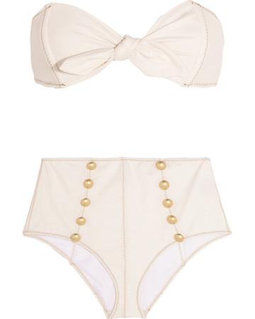 White Buttoned Bikini