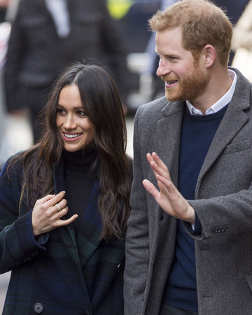 Meghan Markle and Prince Harry Walking in Edinburgh