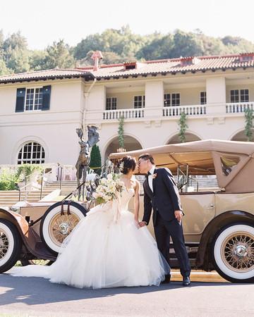yiran yexiang wedding couple car kiss
