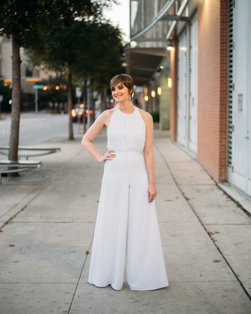 Bride in a Jumpsuit with Flared Pants