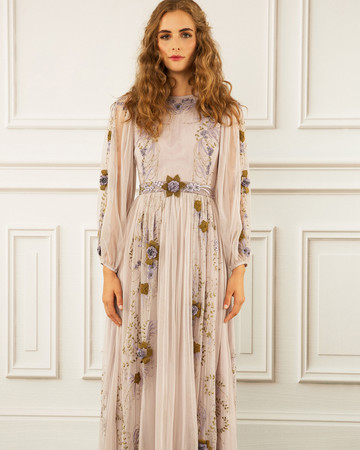 maria korovilas wedding dress spring 2017 boho long sleeve
