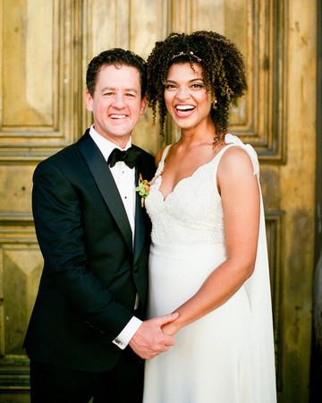 natalie louis wedding couple smile